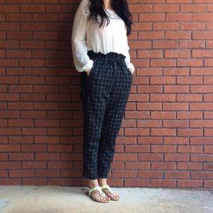 Pants - Black checkered pants size medium fall 2019 trends